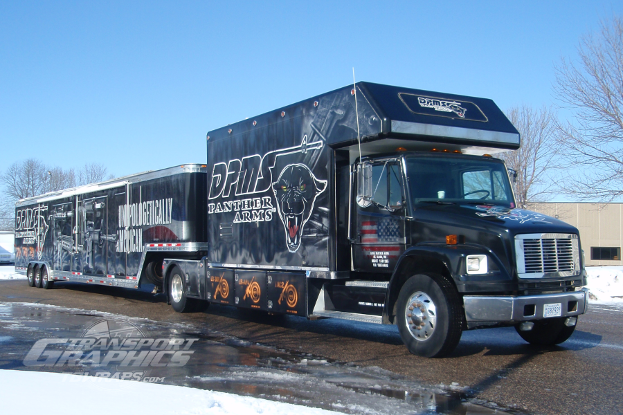 dpms panther arms truck trailer wrap